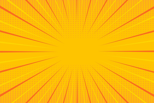 Pop art halftone yellow wallpaper