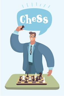 Pop art hand of businessman holding chess figure business strategy concept vector illustration