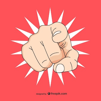Pop art hand pointing you