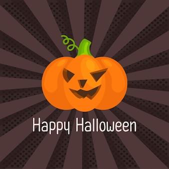 Pop art of happy halloween.pumpkin