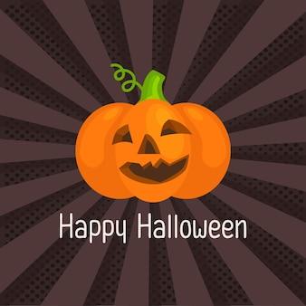 Pop art of happy halloween
