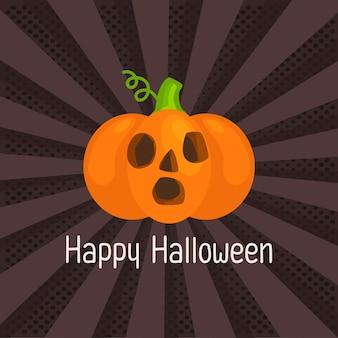 Pop art of happy halloween.