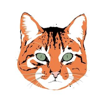 Поп-арт голова кота