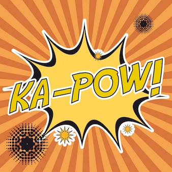 Pop art ka-pow stripes background