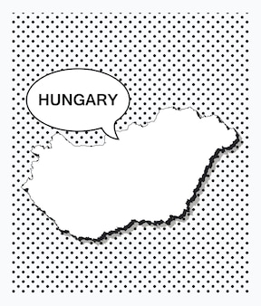 Pop art map of hungary