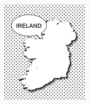 Карта ирландии в стиле поп-арт