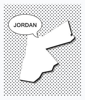 Поп-арт карта иордании
