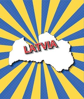 Поп-арт карта латвии