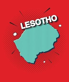 Поп-арт карта лесото