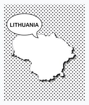 Поп-арт карта литвы