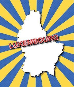 Поп-арт карта люксембурга
