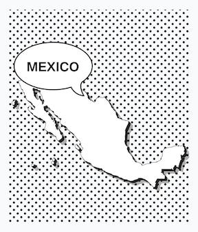 Карта мали в стиле поп-арт