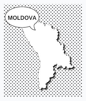 Карта молдовы в стиле поп-арт
