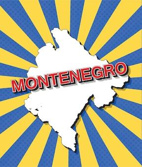 Поп-арт карта черногории