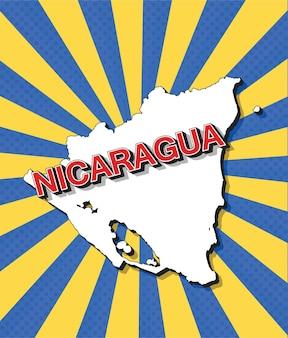 Поп-арт карта никарагуа