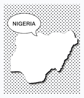 Поп-арт карта нигерии