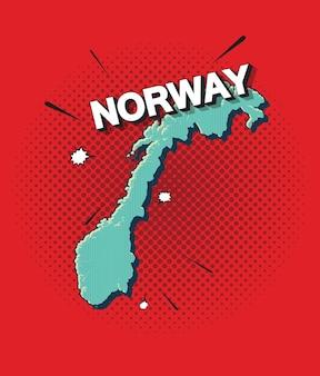 Поп-арт карта норвегии