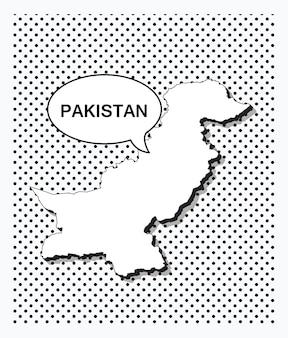 Поп-арт карта пакистана