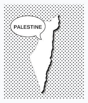 Карта палестины в стиле поп-арт