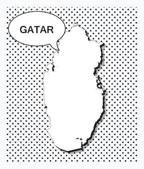 Поп-арт карта катара