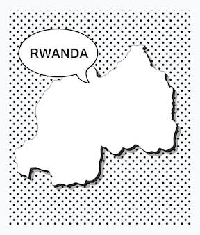ルワンダのポップアートマップ