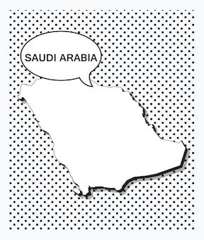 Поп-арт карта саудовской аравии