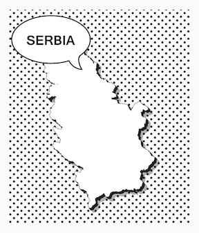 Поп-арт карта сербии