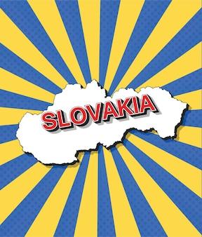 Карта словакии в стиле поп-арт