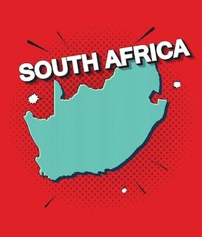 Поп-арт карта юга африки
