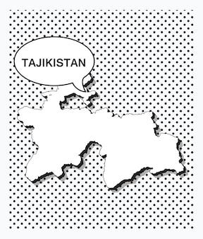 Поп-арт карта таджикистана