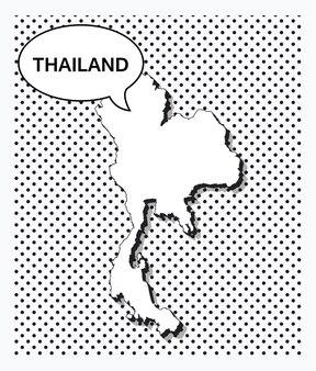 태국의 팝 아트 지도