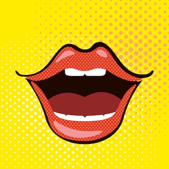 Pop art open mouth.