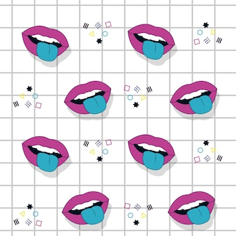 Pop art pattern background