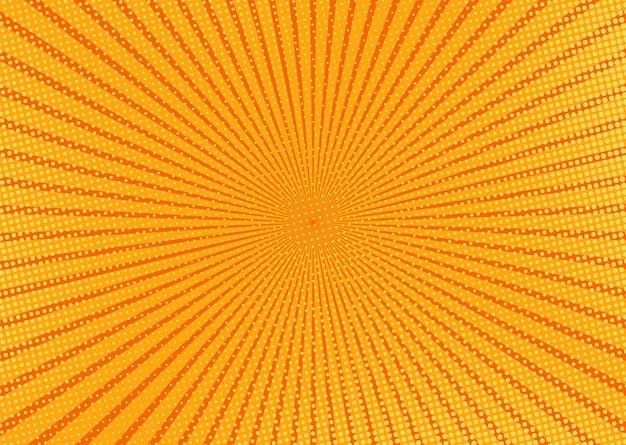 ポップアートのパターン。コミックオレンジのハーフトーンの背景。