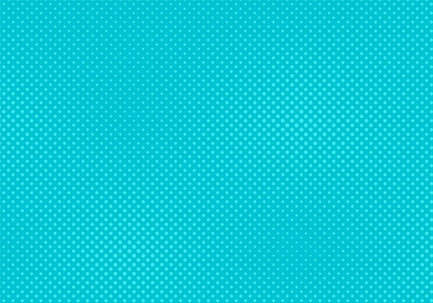 Pop art pattern. halftone comic background. turquoise texture with points. cartoon retro texture