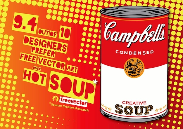 Pop art soup