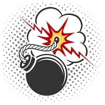 Pop art style bomb