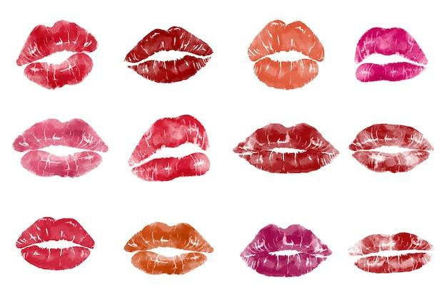 Pop art style lip print
