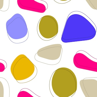 Pop art style textures retro comic design abstract pattern in memphis 80s90s style