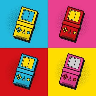 Pop art tetris frames