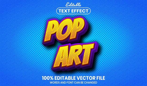 Pop art text, editable text effect