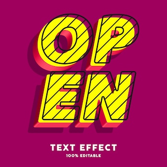 Pop art text effect, editable text