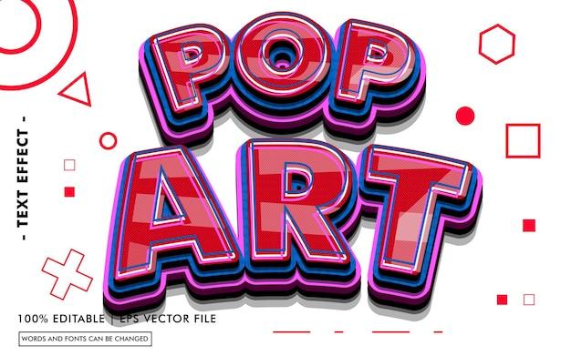 Pop art text effect style