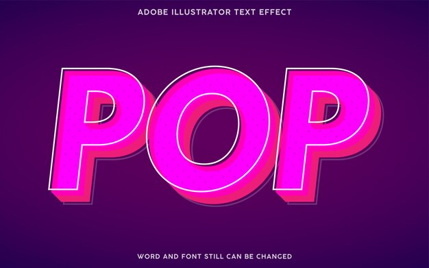핑크 색상의 팝 아트 텍스트 효과
