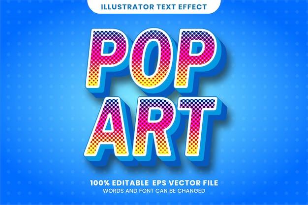 Текстовый эффект в стиле поп-арт