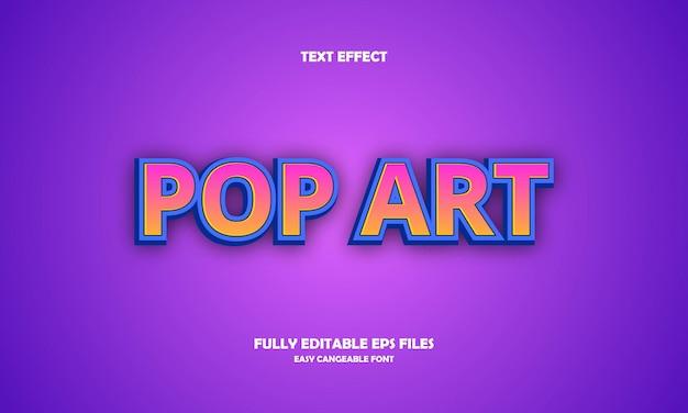 Pop art text effect