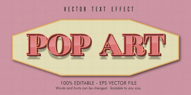 Pop art text, old style editable text effect
