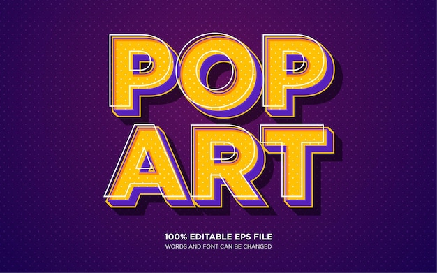 Pop art text style effect