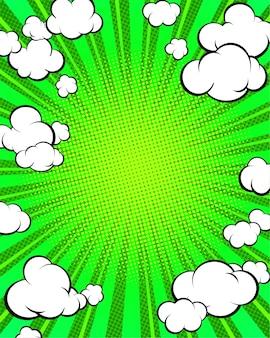 Pop art vertical background template.