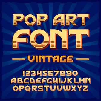 Pop art  vintage typeface